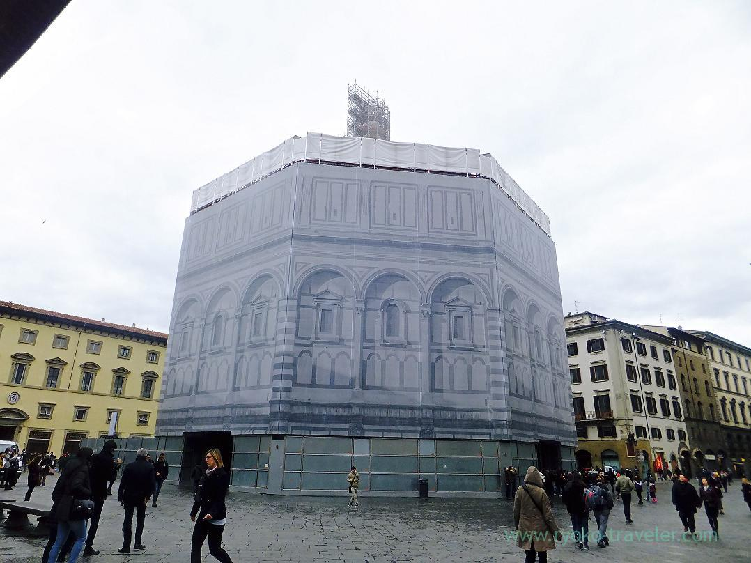Under repair, Florence Baptistery, Firenze (Trip to Italy 2015)