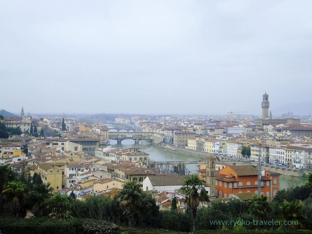 View of vecchio, Piazzale Michelangelo, Firenze (Trip to Italy 2015)