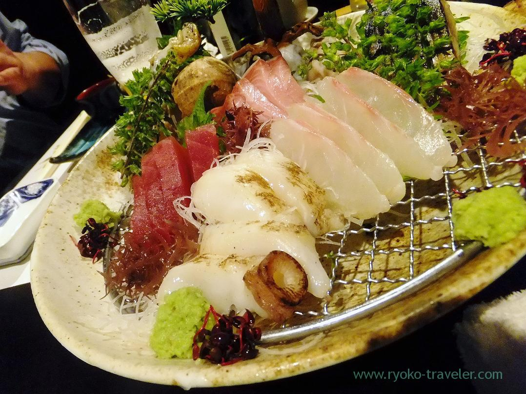 greater amberjack, octopus and yellowtail, Fujimura (Tsukiji)