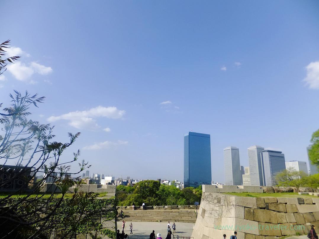 Blue sky, Osaka-jo castle, Osaka-jo park (Trip to Osaka 201504)