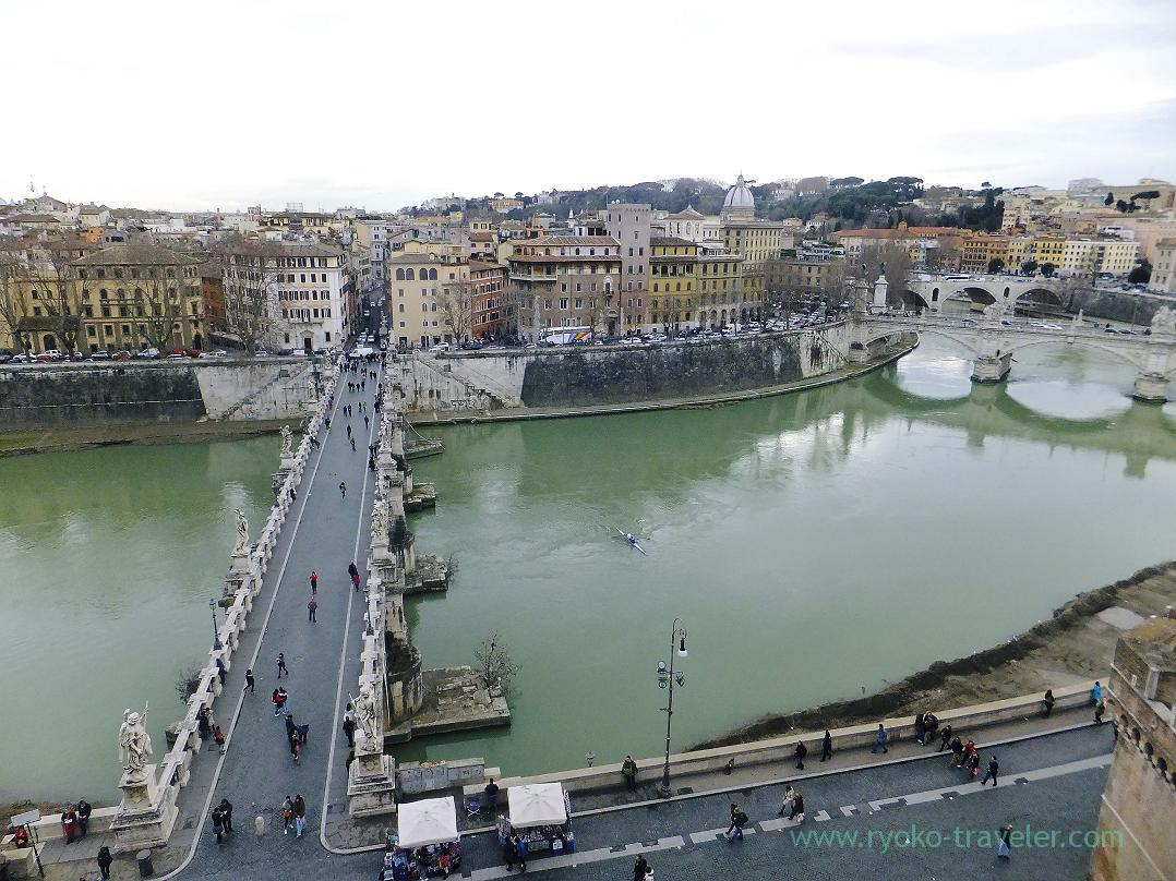 From 3rd floor, Castel Sant'Angelo, Rome (Trip to Italy 2015)