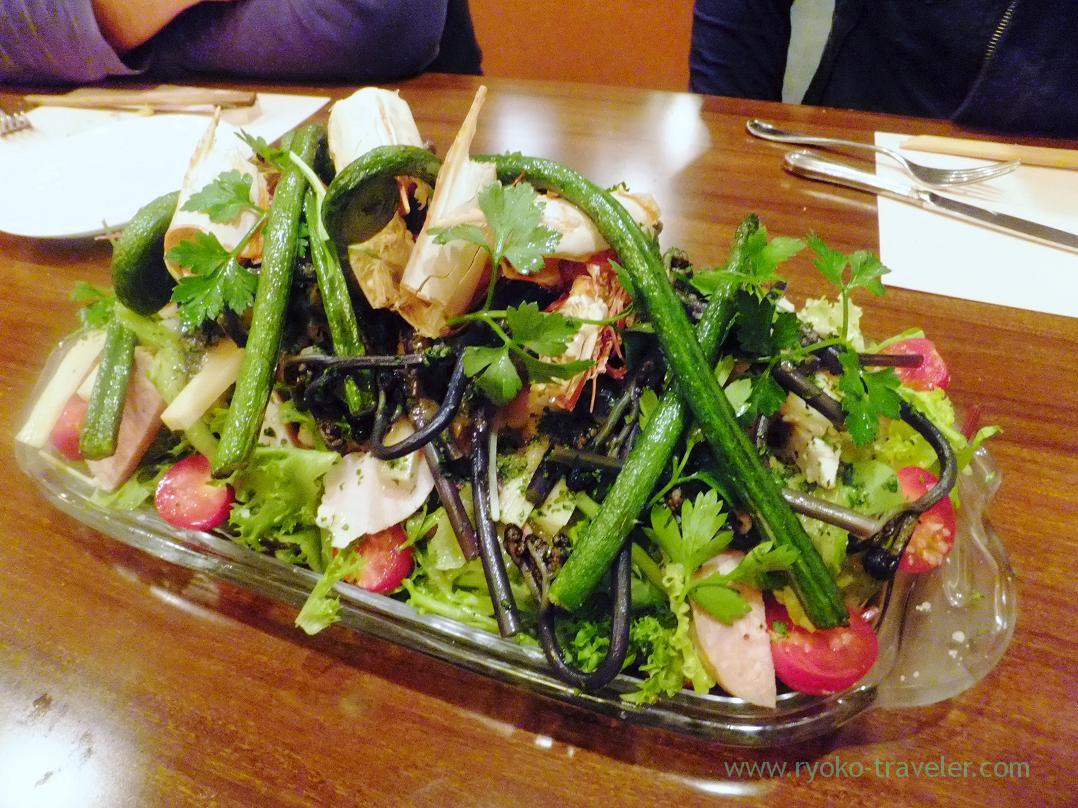 Mix salad, Begin, Nanba (Trip to Osaka 201504)
