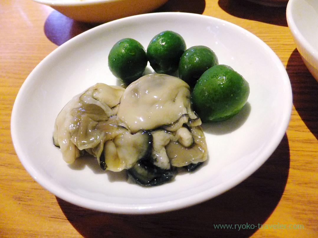 Oysters and olive , Gracia (Asakusabashi)