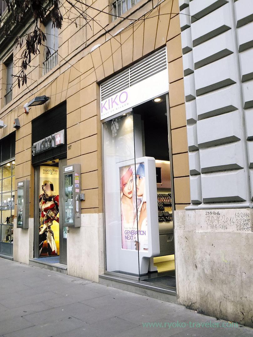 Shopping, Kiko,  Rome (Trip to Italy 2015)