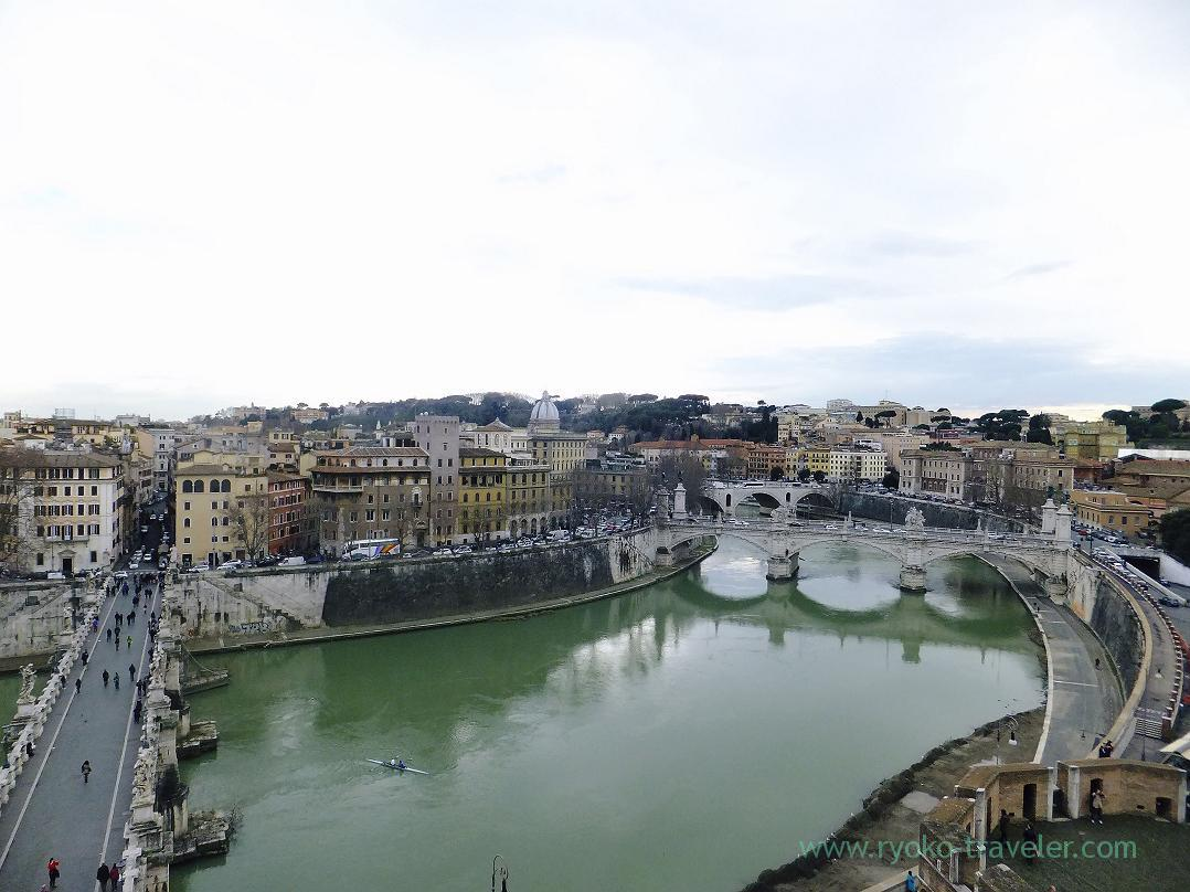 Tiber river close to Sant'Angelo, Tiber river, Rome (Trip to Italy 2015)