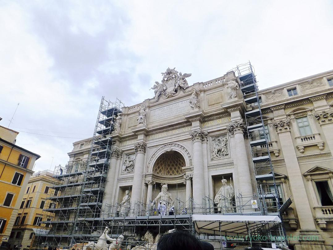 Under repair, Trevi Fountain, Rome (Trip to Italy 2015)