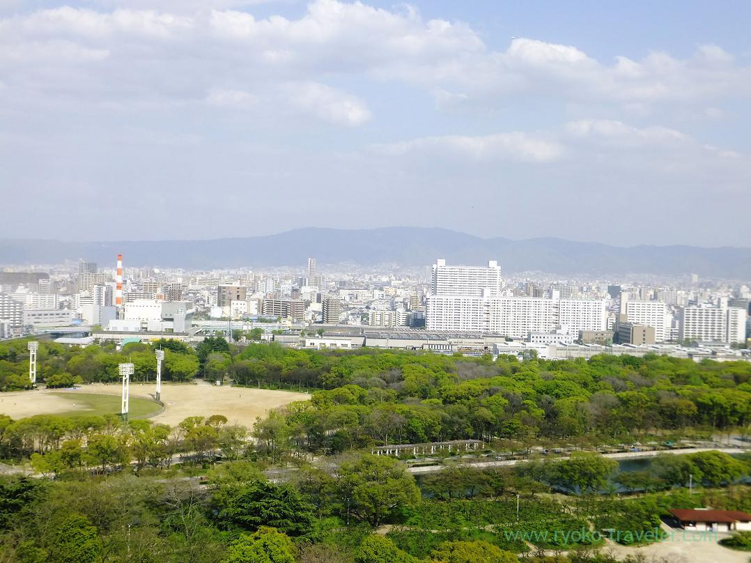 View from the top, Osaka-jo castle, Osaka-jo park (Trip to Osaka 201504)