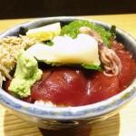 Tsukiji : Sashimi bowl at Hashiba (はしば)
