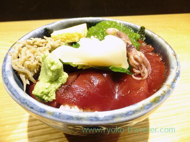 Marinated tuna bowl, Hashiba (Tsukiji)