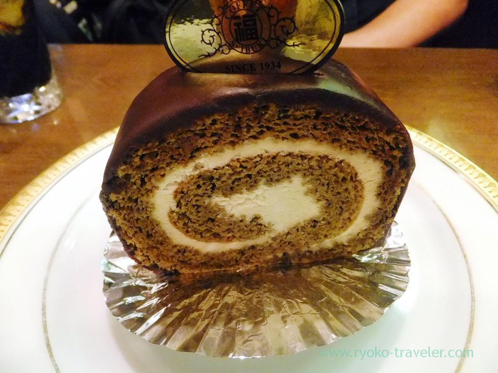 Coffee roll cake, Marufuku Coffee-ten Sennichimae Honten, Nipponbashi (Trip to Osaka 201504)