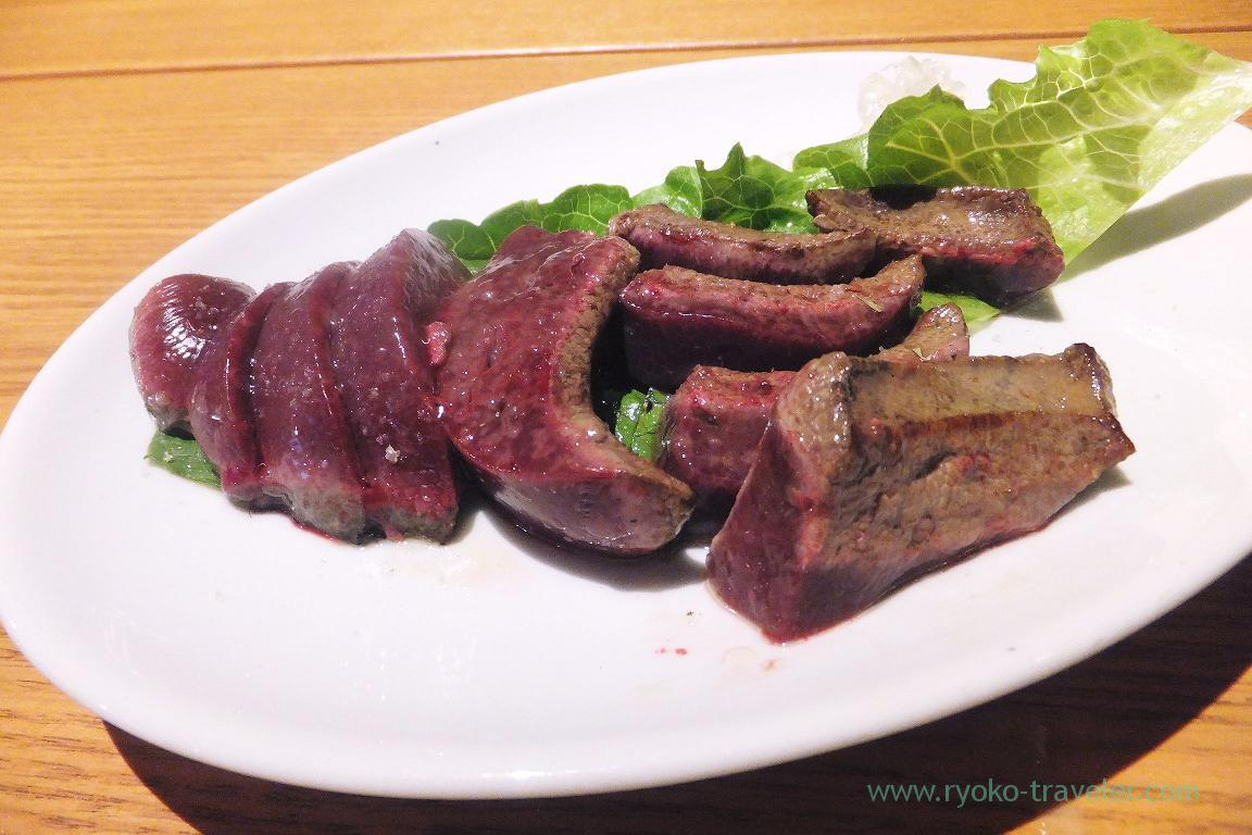 Liver steak, Dining bar Gracia (Asakusabashi)
