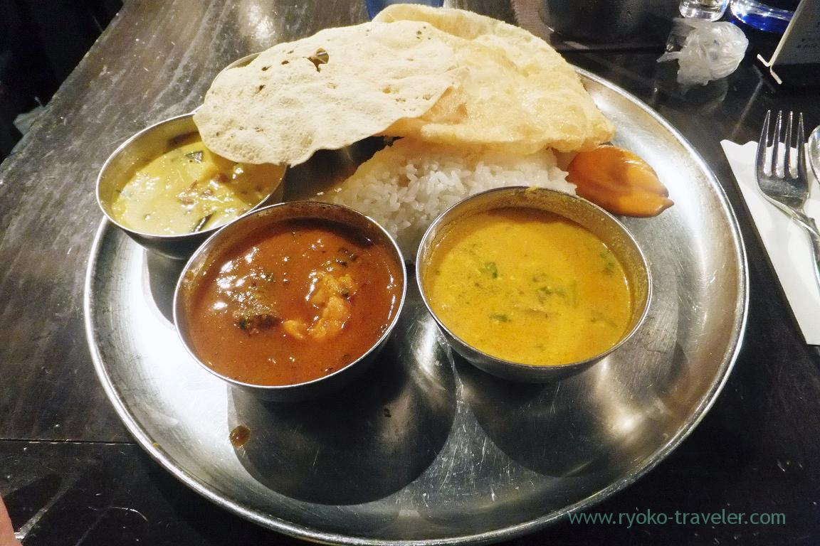 Lunch meals, Dhaba India (Kyobashi)