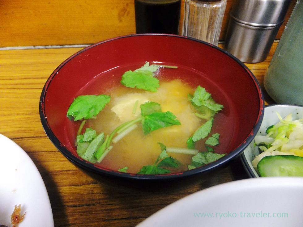 Miso soup, Tonkatsu Yachiyo (Tsukiji Market)
