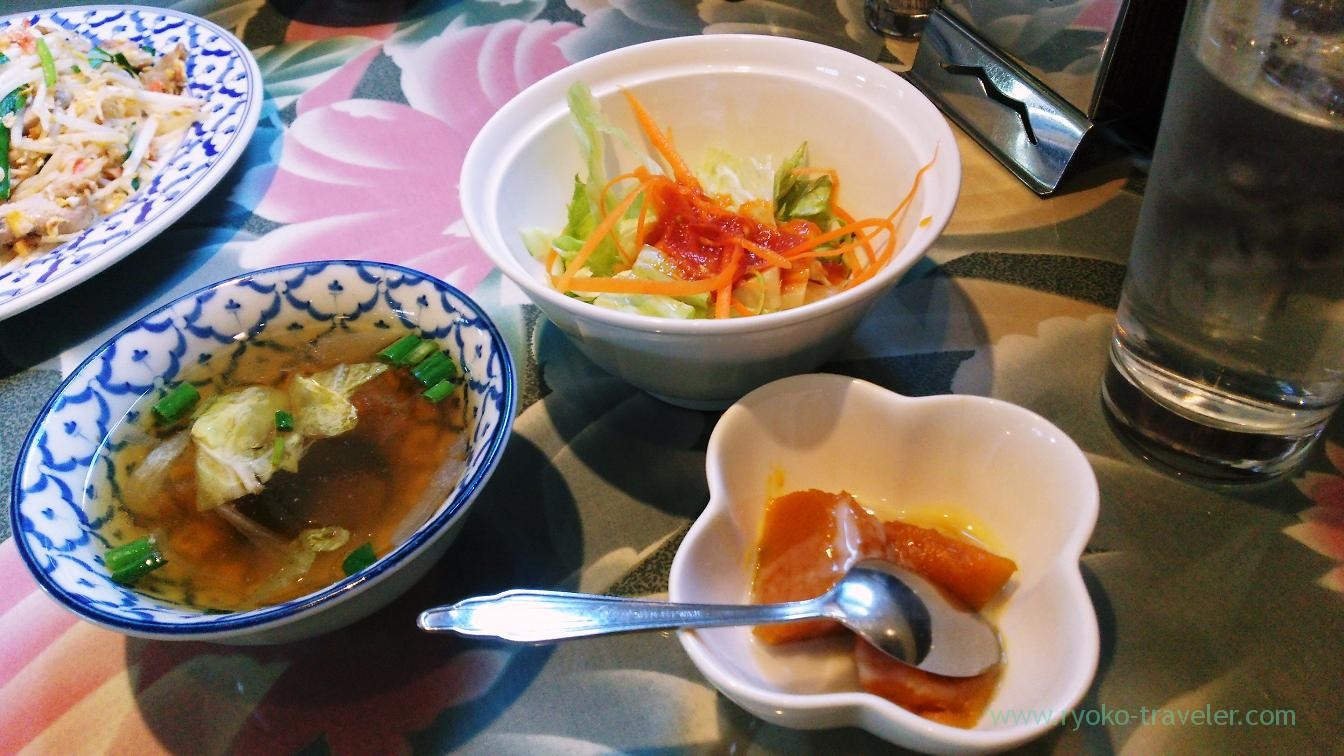 Salad, soup and dessert, Ayuthaya (Funabashi)