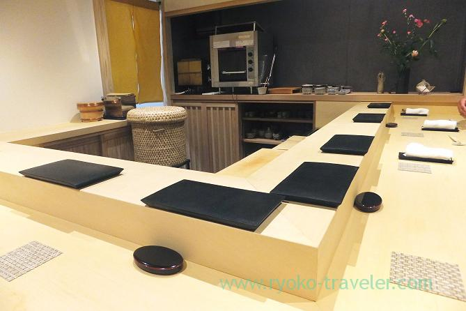 Counter table, Sushi Hashimoto (Shintomicho)