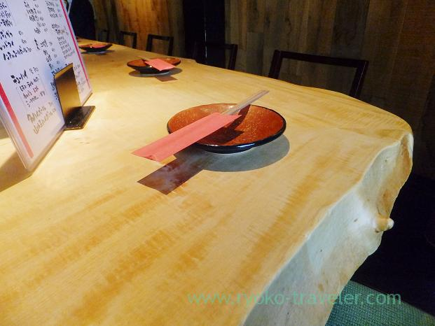 Table, Sakana-ya Hidezo Nanba branch, Tennoji (Trip to Osaka 201504)