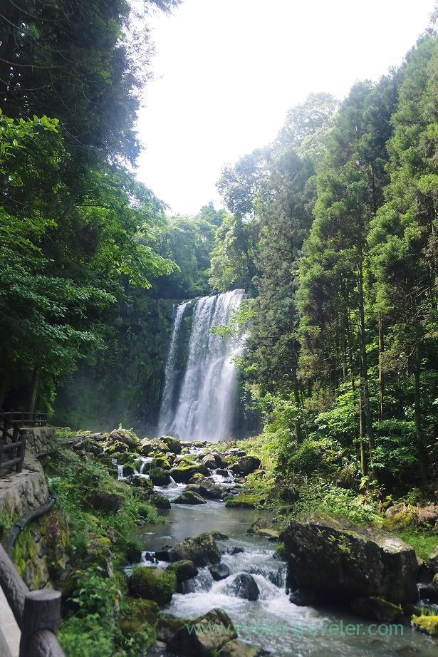 At a distant, Sakura-daki falls, Amagase (Oita 2015 Spring)