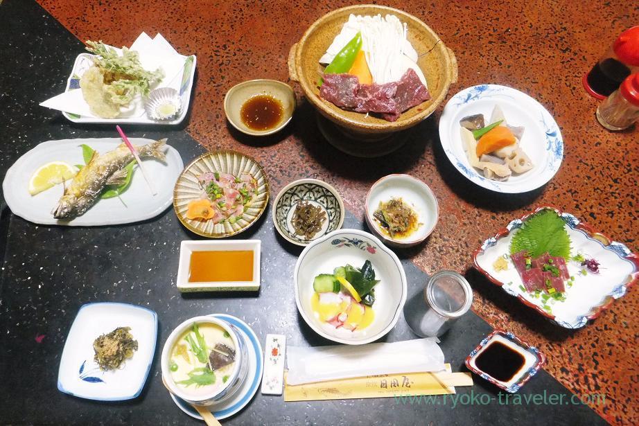 Dinner, Ryokan Hitaya, Amagase (Oita 2015 Spring)