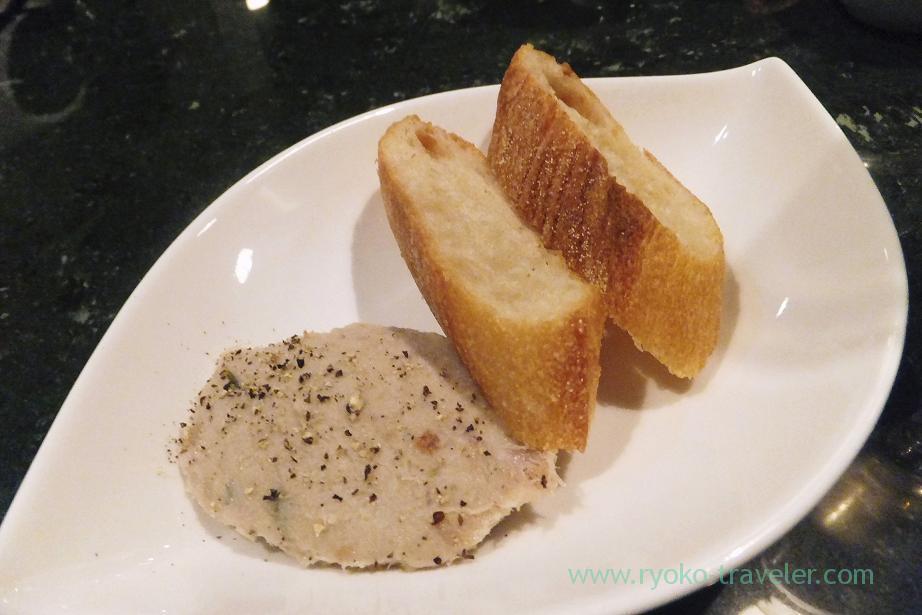 Mochi buta pork rillettes, Shungourmand (Hacchobori)