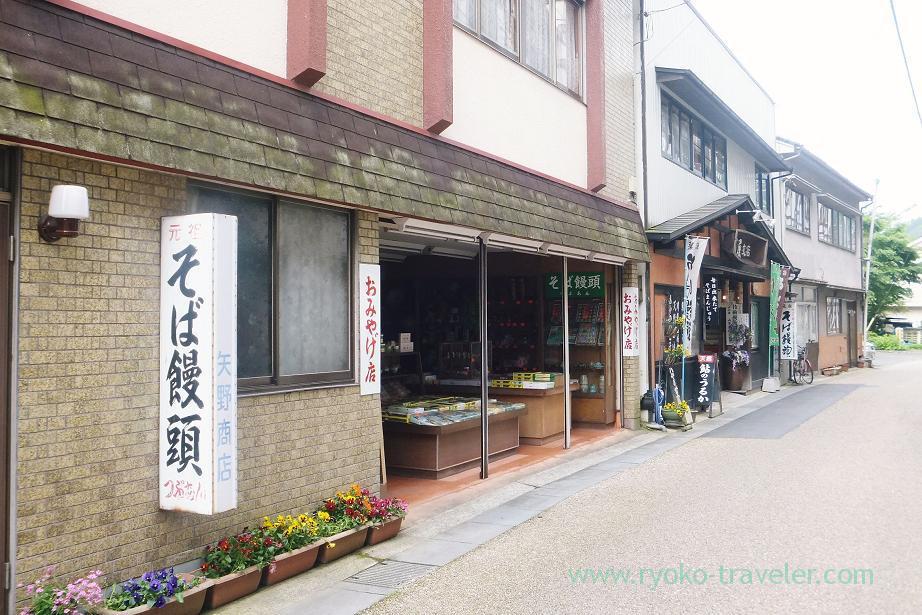 Souvenir shops, Amagase onsen town, Amagase (Oita 2015 Spring)