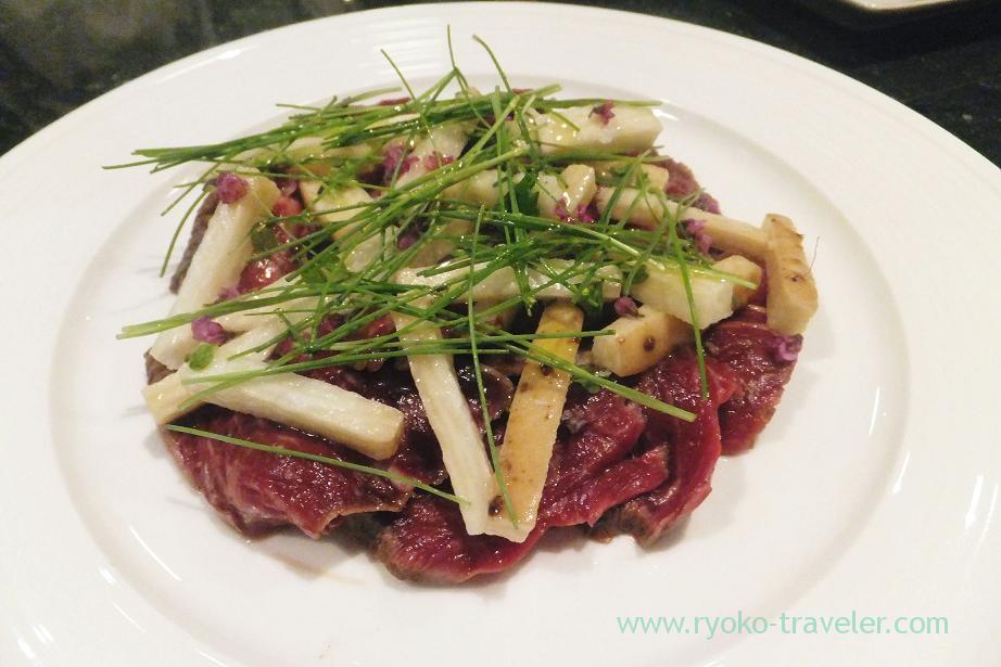 Tankaku beef carpaccio, Shungourmand (Hacchobori)