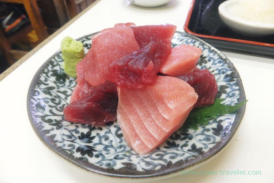 Tuna sashimi, Tenfusa (Tsukiji Market)