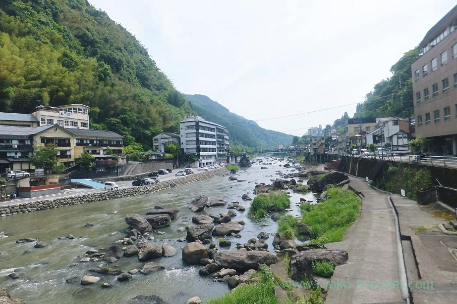 View of onsen town, Amagase onsen town, Amagase (Oita 2015 Spring)