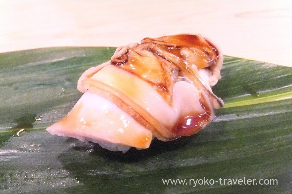 Boiled clam, Okeisushi (Omotesando)
