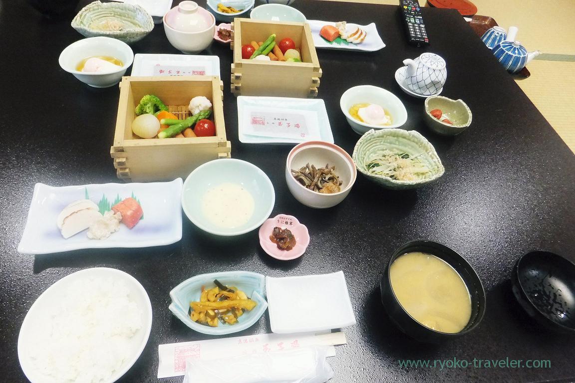 Breakfast, Tamagoyu, Takayu Onsen (Tamagoyu 2014)