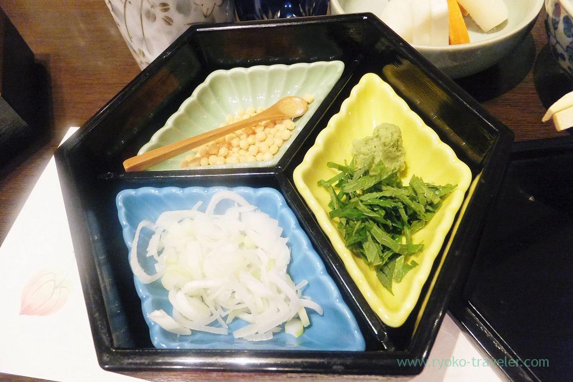 Condiments for hitsumabushi, Tokichi (Kinshicho)