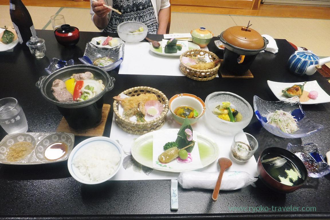 Dinner, Tamagoyu, Takayu Onsen (Tamagoyu 2014)