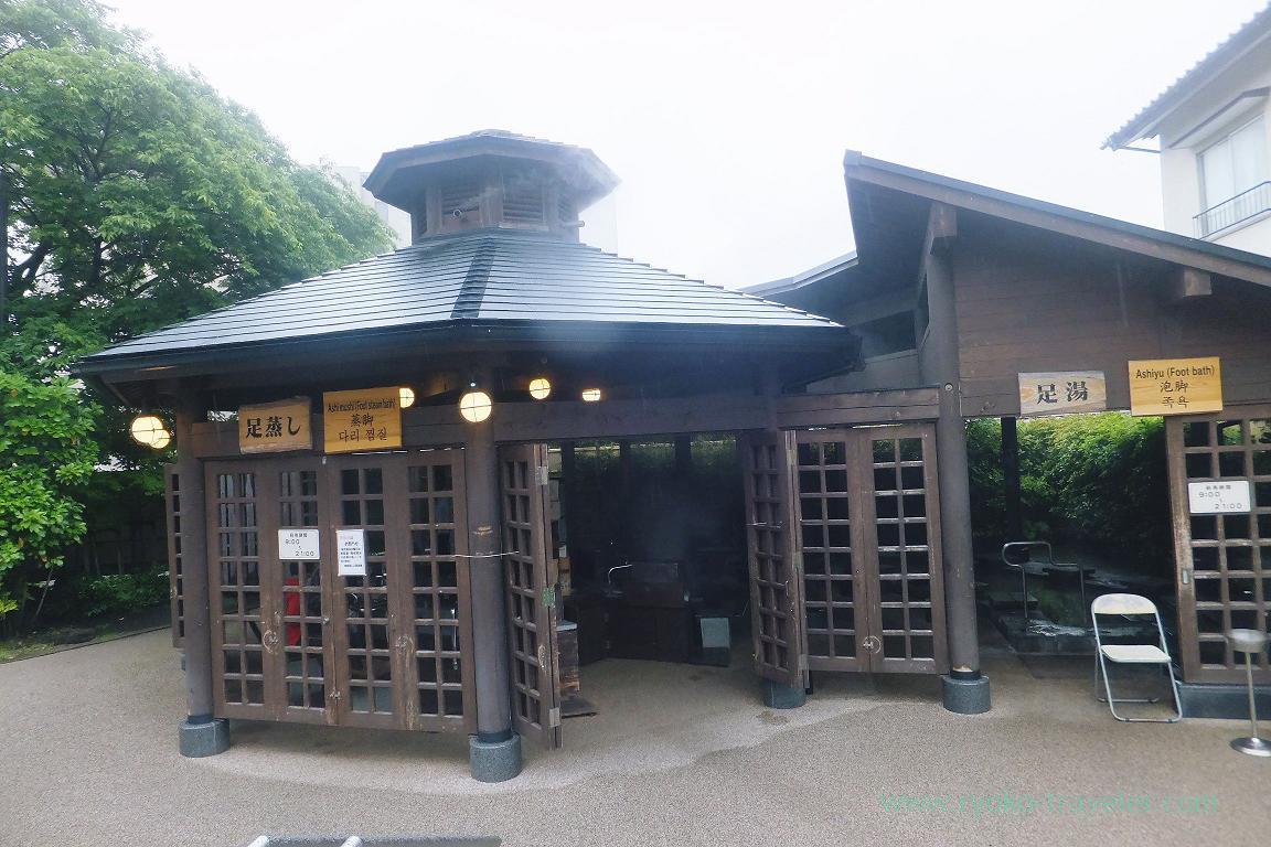 Entrance, foot sauna, Kannawa Onsen (Oita 2015 Spring)