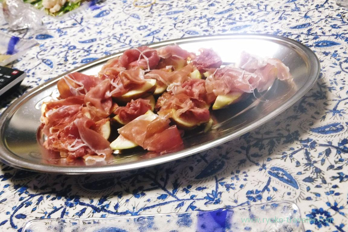 Fig and uncurd ham (Tokyo bay great fire works 2015)