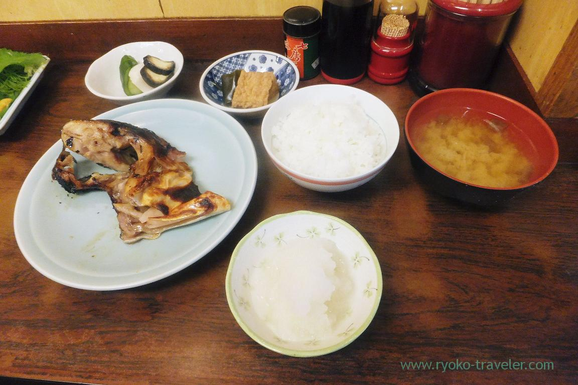 Grilled butterfish marinated in Saikyo msio and set, Kato (Tsukiji Market)