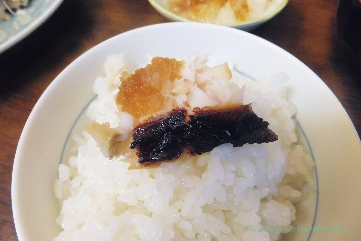 Grilled butterfish marinated in Saikyo msio on the rice, Kato (Tsukiji Market)