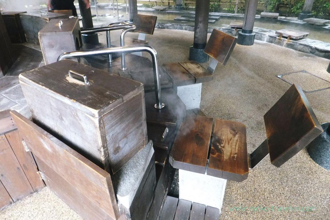 Inside, foot sauna, Kannawa Onsen (Oita 2015 Spring)