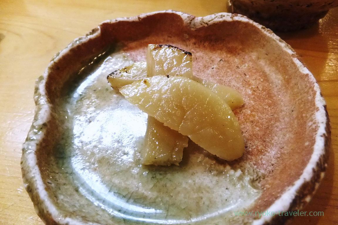 Marinated Razor clam with saikyo miso, Miyakozushi (Bakuro-Yokoyama)