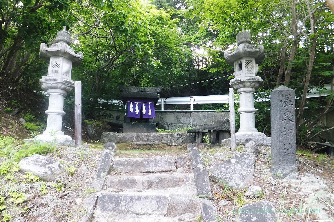 Onsen Jinja shrine, Takayu Onsen (Tamagoyu 2014)