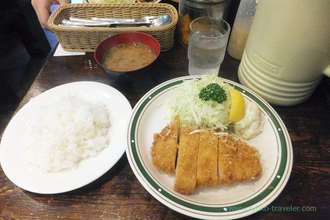 Superior Mochibuta pork sirloin cutlet set, Cutlet Yoshoku Takeda (Yotsuya)
