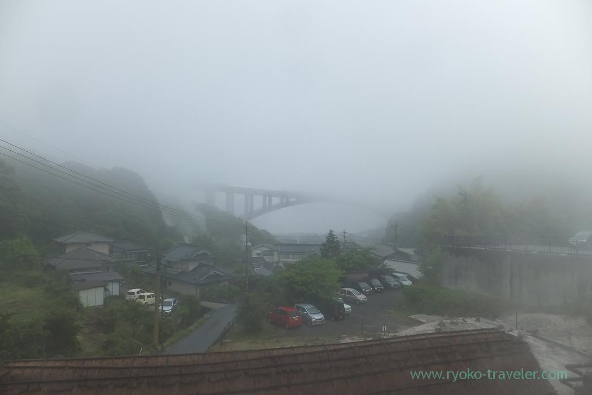 View, Myoban Yunosato, Myoban Onsen (Oita 2015 Spring)