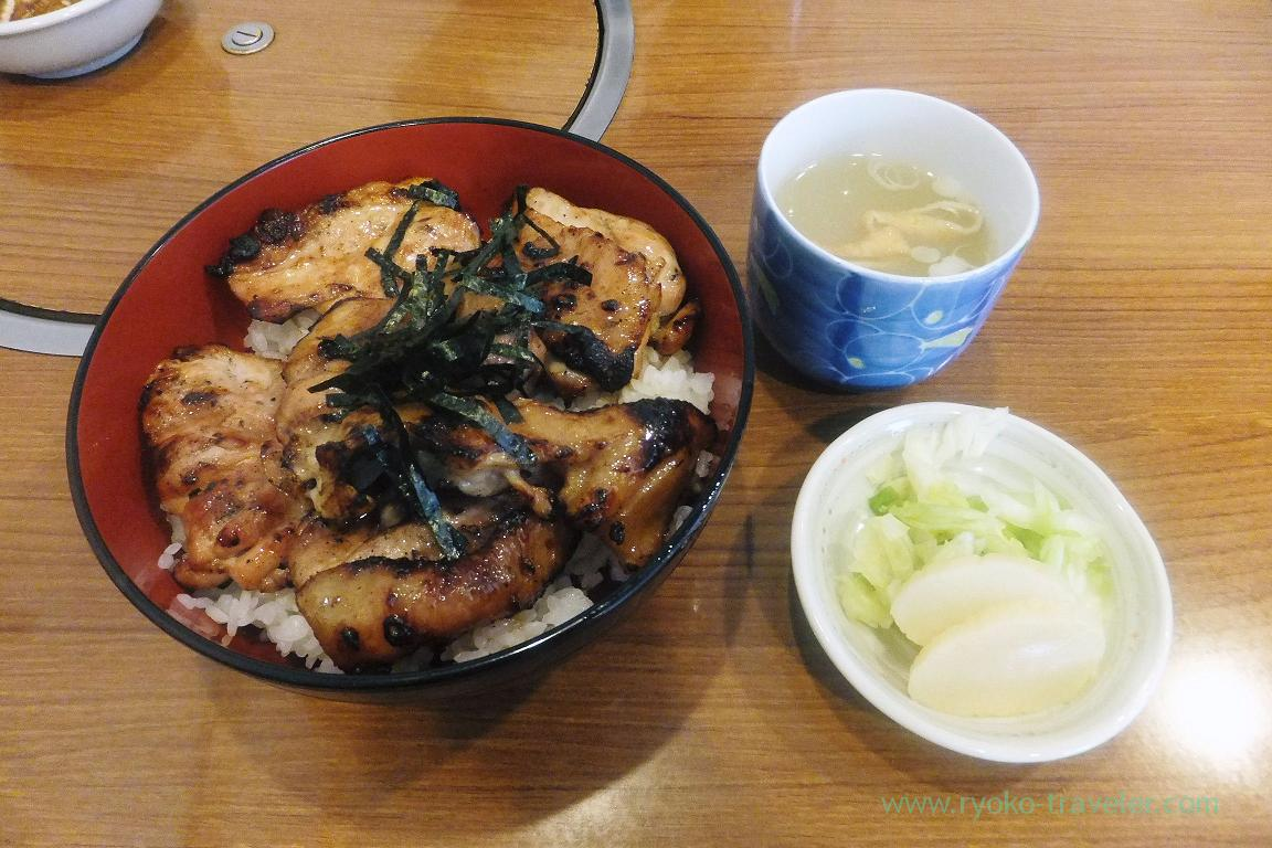 Yakitori bowl and chicken soup, Totoya (Tsukiji )