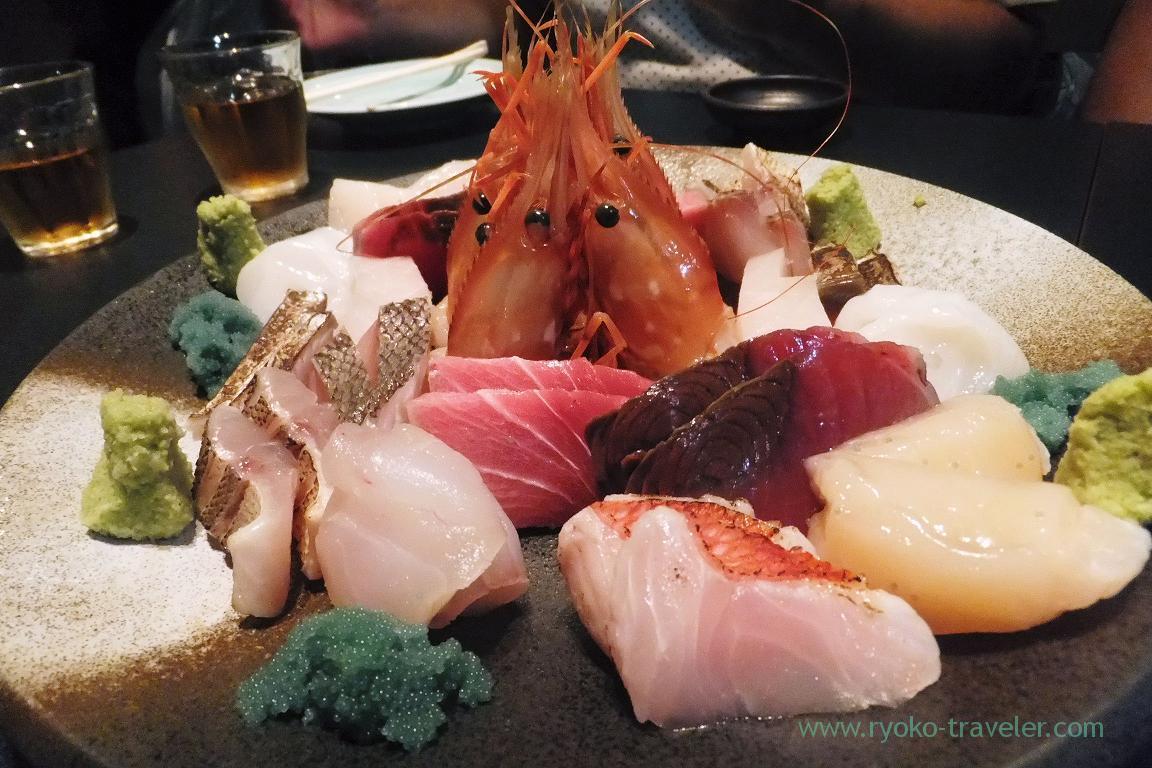 Assorted sashimi, Kashigashira (Tsukiji)