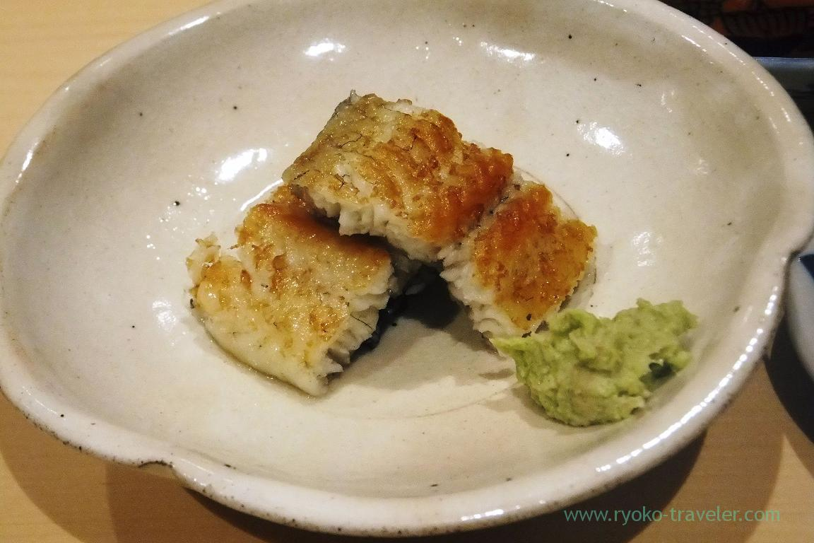 Grilled eel with salt, Sushi Hashimoto (Shintomicho)