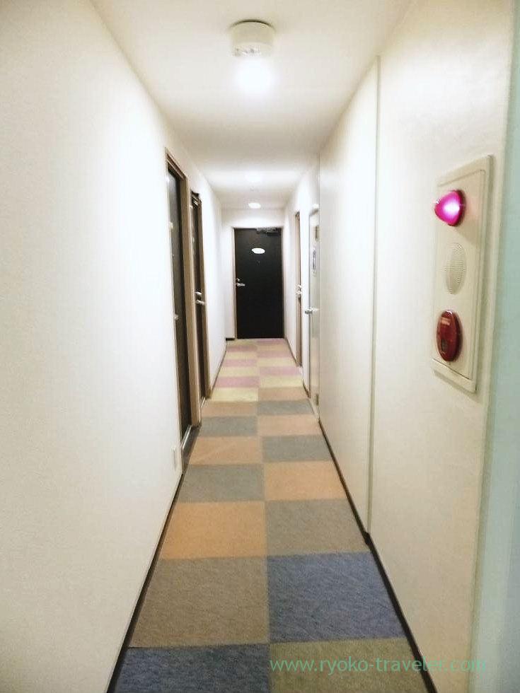 Inside the hotel, Business Hotel Kawaramachi, Takamatsu (Kagawa & Tokushima 2011)