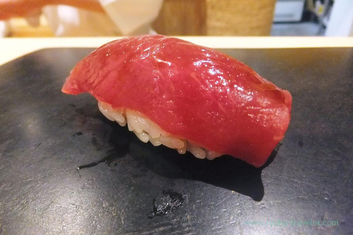 Marinated tuna with soy sauce, Sushi Hashimoto (Shintomicho)