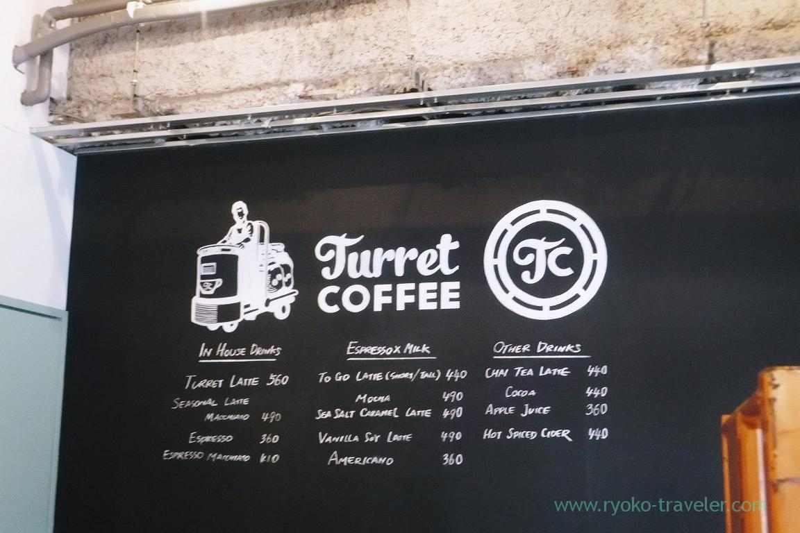 Menus, Turret coffee (Tsukiji)