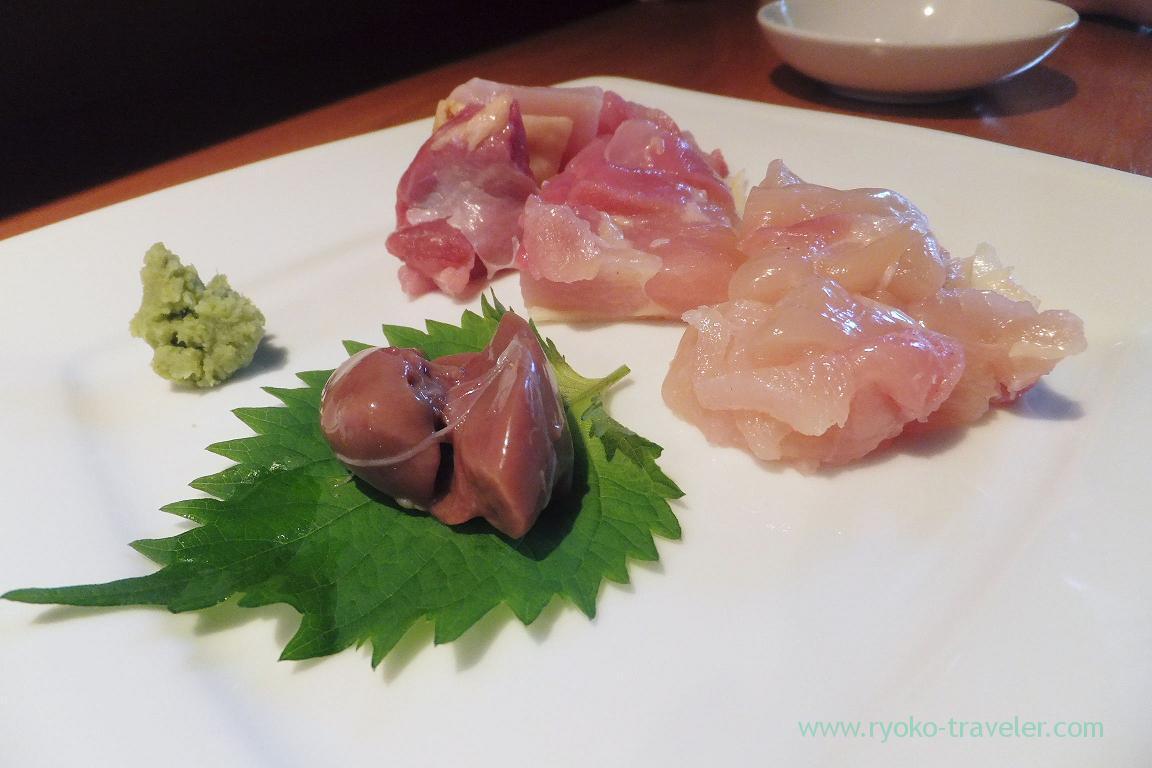 Satsuma jidori chicken from Kagoshima sashimi, Dining bar Gracia (Asakusabashi)