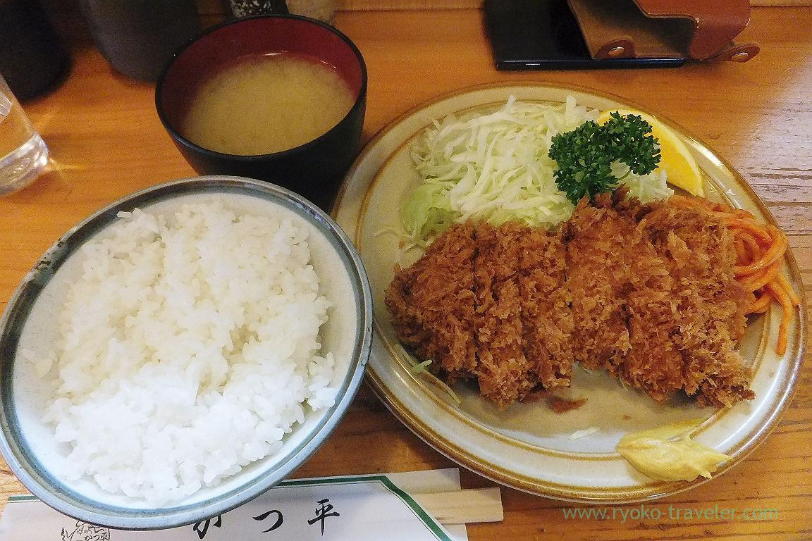 Fillet cutlet and rice set, Katsuhei (Tsukiji)