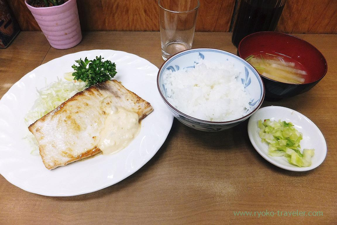 Fried swordfish with butter set, Odayasu (Tsukiji Market)