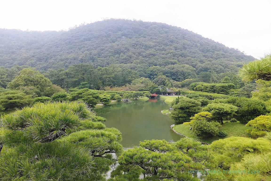 From Fuyoho hill, Ritsurin garden, Udon tour managed by Kotosan bus,(Takamatsu 2015)